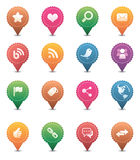 Social Media Icons. Vector social media icon Collection Stock Images
