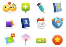 Social media icons #2 Royalty Free Stock Images
