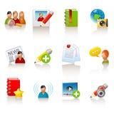 Social media icons. Set of 12 glossy social media icons stock illustration