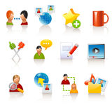 Social media icons. Set of 12 glossy social media icons Stock Images