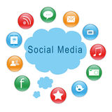 Social Media icons. For the website Stock Images