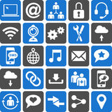 Social Media icons. This is a collection of icons related with social media Royalty Free Stock Photo