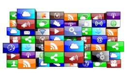 Social Media icons apps concept. Social Media icons apps isolated on white background stock illustration