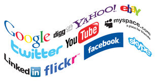 Social media icons Royalty Free Stock Image