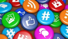 Social Media Icons Badges Stock Photos
