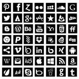 Social media icons black Royalty Free Stock Image