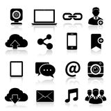 Social Media Icons Black Royalty Free Stock Photo