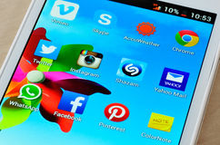 Social media icons Royalty Free Stock Photography