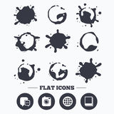 Social media icons. Chat speech bubble and Globe Royalty Free Stock Photography