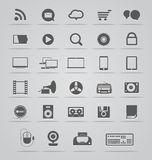 Social media icons collection Stock Photo