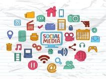 Social Media icons. Royalty Free Stock Image