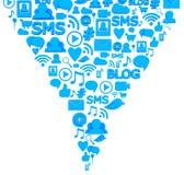 Social media icons. 3d render Royalty Free Stock Image