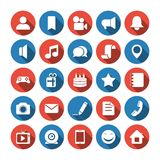 Social and media icons Stock Photos