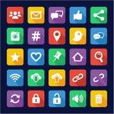 Social Media Icons Flat Design Royalty Free Stock Photography