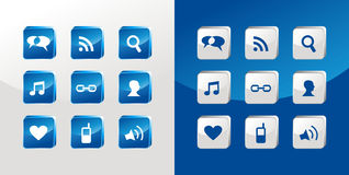 Social media icons glass Royalty Free Stock Photos