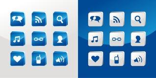 Social media icons glass royalty free stock photos