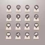 Social media icons  - Grace_Series Stock Images