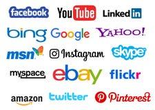 Social media icons. Illustration Stock Photos