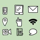 Social Media Icons. Illustration of hand drawing Social Media Icons Royalty Free Stock Photo
