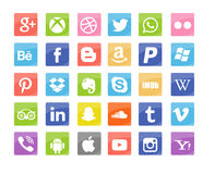 Social media icons. On isolated background Royalty Free Stock Image