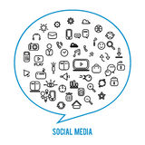 Social media icons isolated on white background Stock Photos