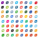 Social media icons and logos Royalty Free Stock Photo