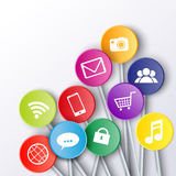 Social Media Icons on lollipop sticks Royalty Free Stock Photography