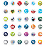Social media icons and network buttons Royalty Free Stock Image