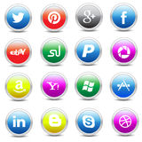 Social media icons pack Royalty Free Stock Photography