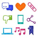 Social media icons painted Royalty Free Stock Photo