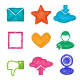 Social media icons painted Stock Photos