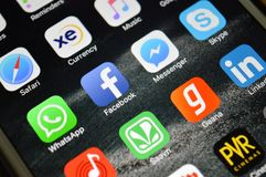 Social Media Icons Royalty Free Stock Image