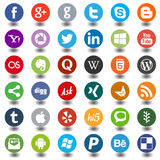 Social media icons round Royalty Free Stock Image
