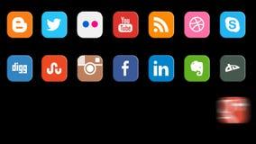 Social Media Icons Seamless Loop stock footage