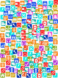 Social media icons seamless pattern background Stock Photos