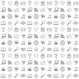 Social Media Icons Seamless Vector Background Royalty Free Stock Image