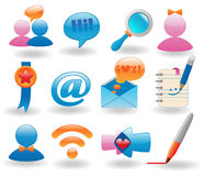 Social media icons set Stock Images