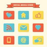 Social media icons set. Stock Image