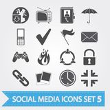 Social media icons set 5 Stock Photography