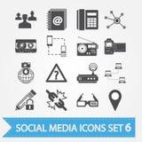 Social media icons set 6 Royalty Free Stock Photos