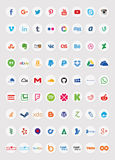 Social Media Icons (Set 2). Also see sets 1 and 3 of my portfolio. (File ID: 57680036 and File ID: 59089659) A set of 72 popular social media Stock Photography