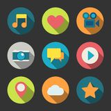 Social media icons set for blogging Royalty Free Stock Photos