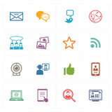 Social Media Icons Set 1 - Colored Series Royalty Free Stock Images