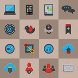 Social Media Icons Set Royalty Free Stock Images