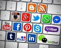 Social media icons apps Stock Photography