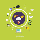 Social media icons Stock Photos