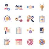 Social Media Icons Set 2 - Flat Series Stock Photography