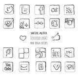 Social media icons set Stock Image