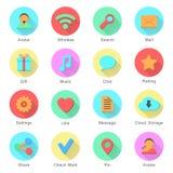 Social media icons set with inscriptions Stock Photos