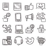 Social Media Icons Set Stock Photography